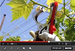 誘引作業に使用するテープナーの動きを動画でご紹介します。